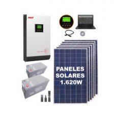 KIT SOLAR F4 6 Paneles 270W + 2 Bat. 200Ah + Inv. Offgrid MUST 3000W