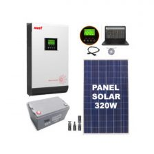 KIT SOLAR F1 1 Panel 320W + 1 Bat. 100Ah + Inv. Offgrid MUST 1000W