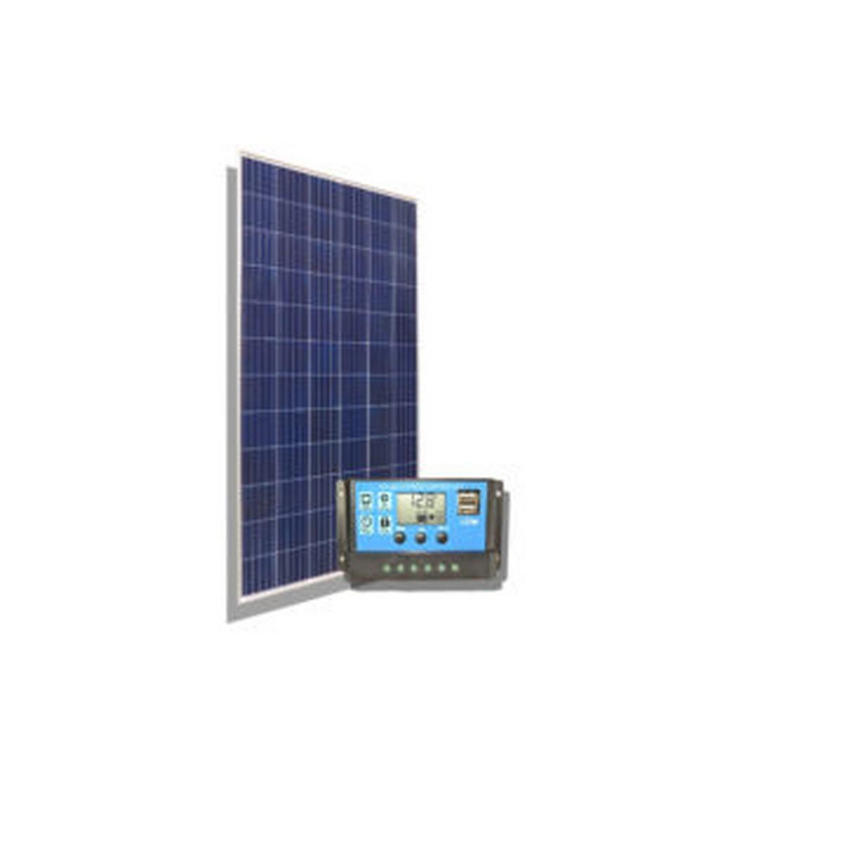 KIT SOLAR C3 1 Panel 160W + 1 Reg. 10A