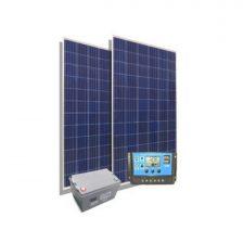 KIT SOLAR CB6 2 Paneles 160W + 1 Reg. 20A + 1 Bat. 100Ah